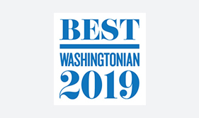 Best Washingtonian 2019 badge