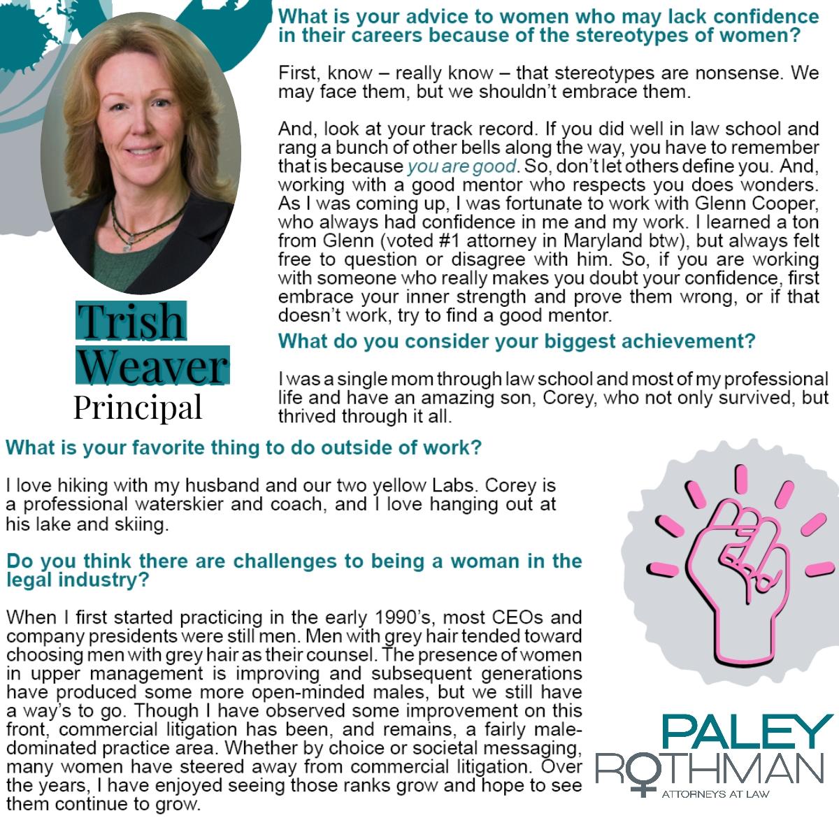 Trish Weaver - Womens History Profile