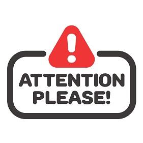 attention please symbol